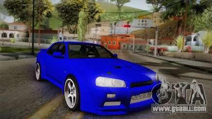 Nissan Skyline ER34 Rocket Bunny for GTA San Andreas