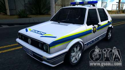Volkswagen Golf White South African Police for GTA San Andreas
