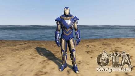 Iron Man Blue Steel for GTA 5