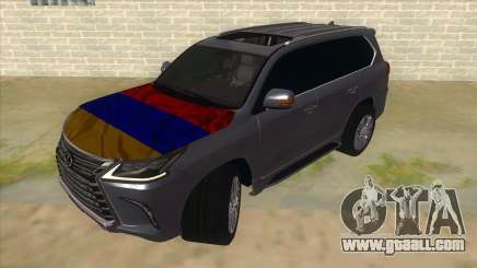 Lexus LX570 2016 Armenian for GTA San Andreas