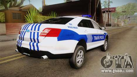 Ford Taurus Turkish Traffic Police for GTA San Andreas right view
