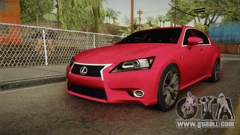 Lexus GS350 F Sport for GTA San Andreas