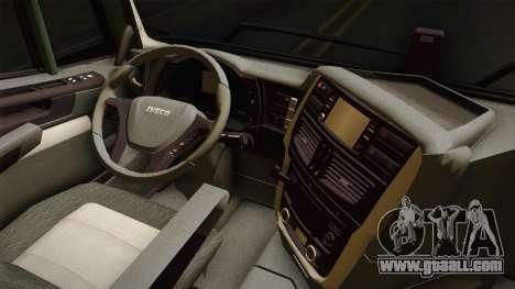 Iveco Trakker Hi-Land 6x4 Cab High v3.0 for GTA San Andreas inner view