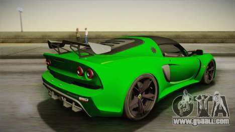 Lotus Exige Sport 350 Roadster Type 117 2014 for GTA San Andreas left view