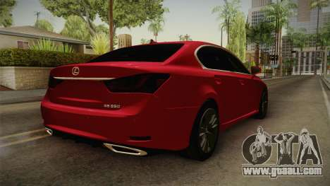 Lexus GS350 F Sport for GTA San Andreas back left view