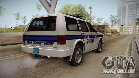 Albany Landstalker 1992 Flint County Sheriff for GTA San Andreas back left view