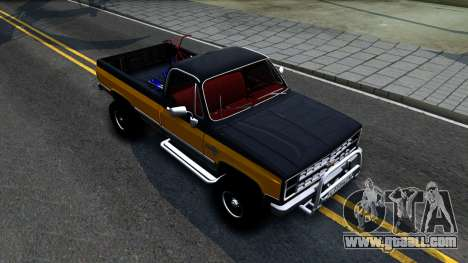 Chevrolet Silverado K-10 2500 1986 for GTA San Andreas right view