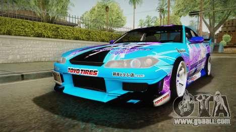 Nissan Silvia S15 Cirno Touho Project Itasha for GTA San Andreas