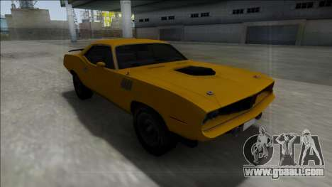 1971 Plymouth Hemi Cuda 426 for GTA San Andreas right view