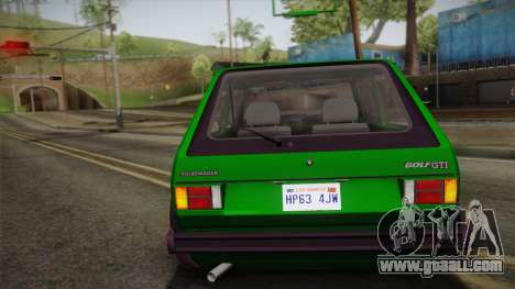 Volkswagen Golf Mk1 GTI for GTA San Andreas side view