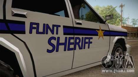 Albany Landstalker 1992 Flint County Sheriff for GTA San Andreas back view
