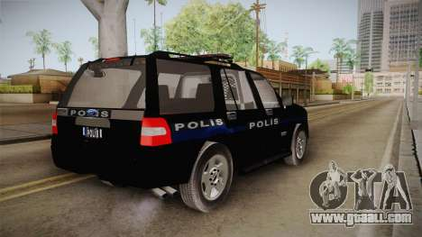 Ford Ranger Police for GTA San Andreas back left view