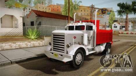 Peterbilt 351 Dump Truck for GTA San Andreas back left view