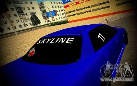 Nissan Skyline HR 34 for GTA San Andreas left view