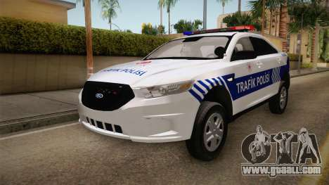 Ford Taurus Turkish Traffic Police for GTA San Andreas back left view