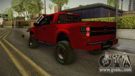 Ford F-150 Raptor 2014 for GTA San Andreas left view