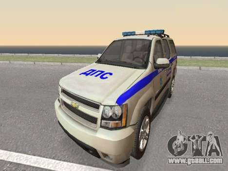 Chevrolet Tahoe Police DPS for GTA San Andreas inner view