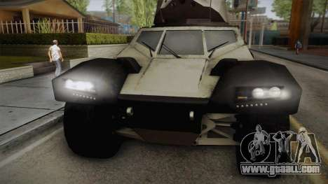 Panhard CRAB for GTA San Andreas back left view