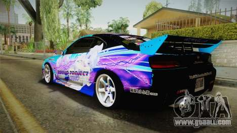 Nissan Silvia S15 Cirno Touho Project Itasha for GTA San Andreas left view
