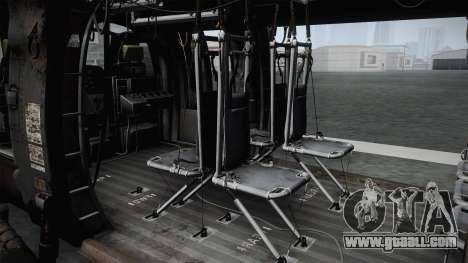 CoD 4: MW - UH-60 Blackhawk RAF Remastered for GTA San Andreas back view