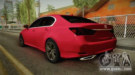 Lexus GS350 F Sport for GTA San Andreas left view