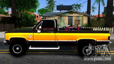Chevrolet Silverado K-10 2500 1986 for GTA San Andreas left view