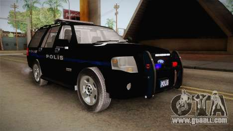 Ford Ranger Police for GTA San Andreas right view