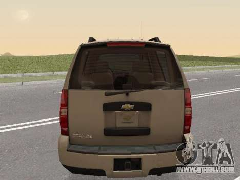 Chevrolet Tahoe Police DPS for GTA San Andreas back left view