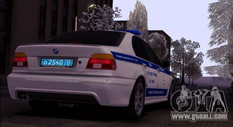 BMW E39 540i Russian Police for GTA San Andreas back left view