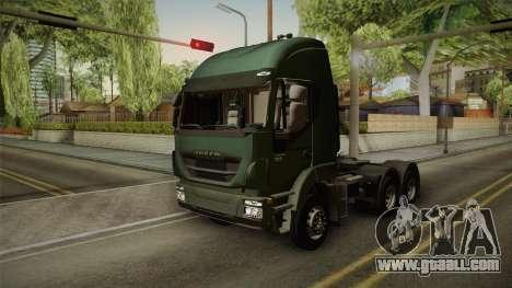 Iveco Trakker Hi-Land 6x4 Cab High v3.0 for GTA San Andreas back left view