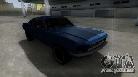 1967 Ford Mustang for GTA San Andreas inner view