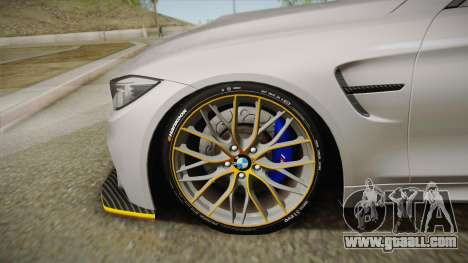 BMW M4 F82 2014 for GTA San Andreas back left view