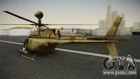OH-58D Croatian Air Force for GTA San Andreas left view
