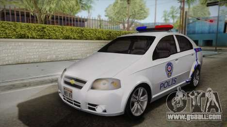 Chevrolet Aveo Turkish Police for GTA San Andreas