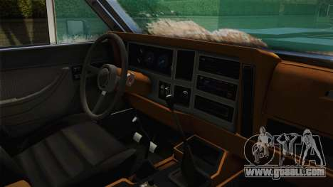 Jeep Wagoneer Off Road for GTA San Andreas inner view