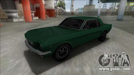 1965 Ford Mustang for GTA San Andreas inner view