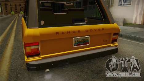 Land Rover Range Rover 1978 for GTA San Andreas inner view