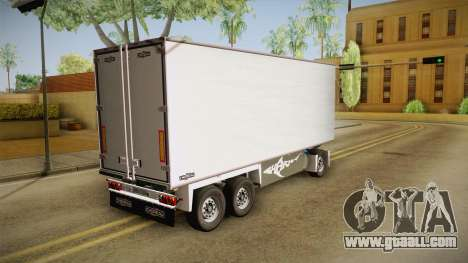 Malaysia Airlines Trailer for GTA San Andreas back left view