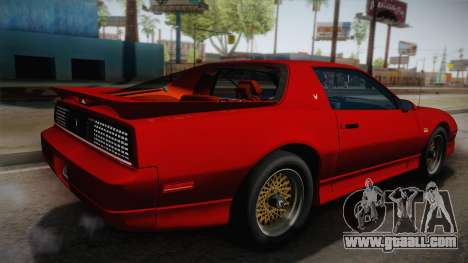 Pontiac Firebird Trans Am 1987 for GTA San Andreas