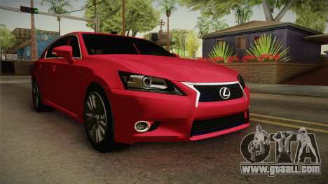 Lexus GS350 F Sport for GTA San Andreas right view