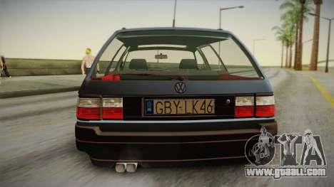Volkswagen Passat B3 2.0 for GTA San Andreas back view