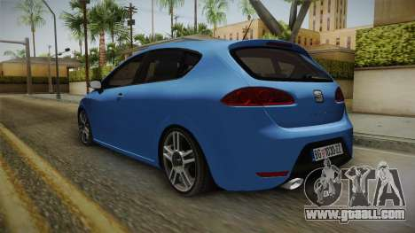 Seat Leon Cupra for GTA San Andreas back left view