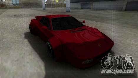 Ferrari 512 TR Rocket Bunny for GTA San Andreas back view