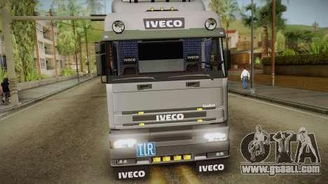Iveco Eurotech 400E34 Tandem v2.0 for GTA San Andreas back left view