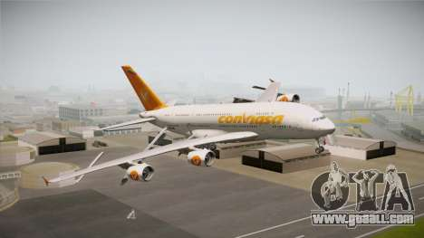 Airbus A380-861 Conviasa for GTA San Andreas back left view