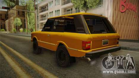 Land Rover Range Rover 1978 for GTA San Andreas back left view