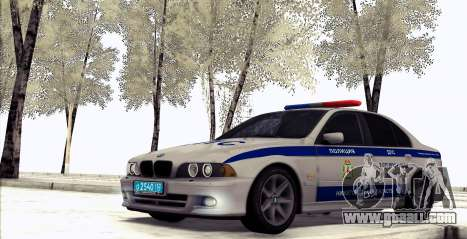 BMW E39 540i Russian Police for GTA San Andreas left view