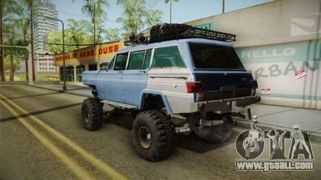 Jeep Wagoneer Off Road for GTA San Andreas left view