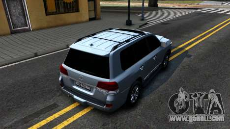 Toyota Land Cruiser 200 2016 PML Edition for GTA San Andreas back view