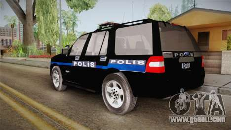 Ford Ranger Police for GTA San Andreas left view